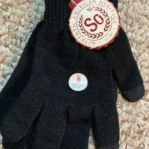 Brand new SO black touchscreen gloves with tags